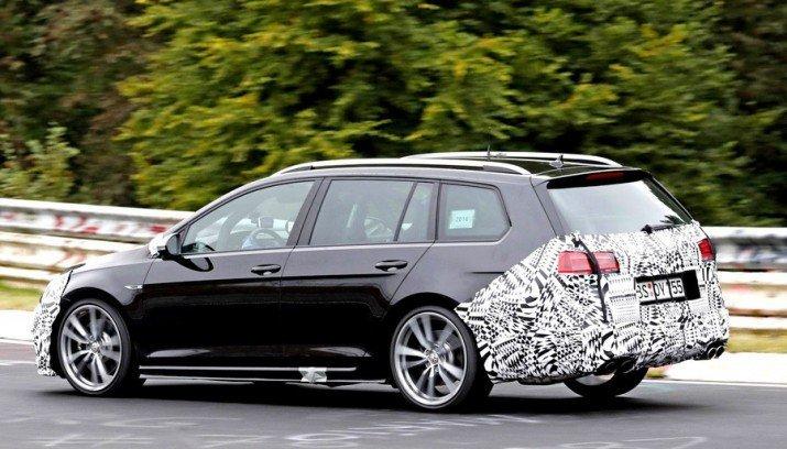 VWиспытывает новый универсал Golf R2018 модельного года