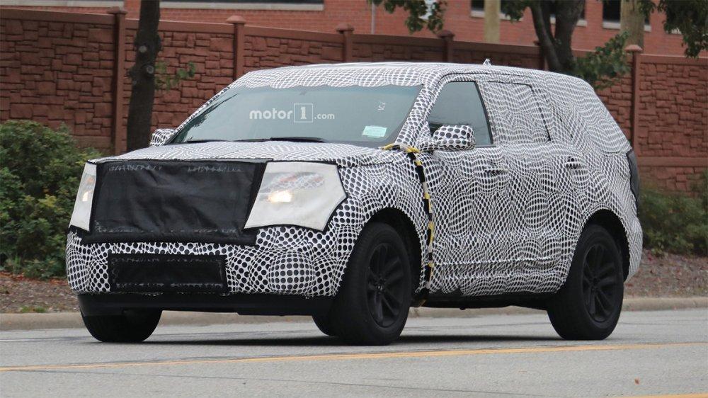 Форд Explorer замечен впроцессе тестов