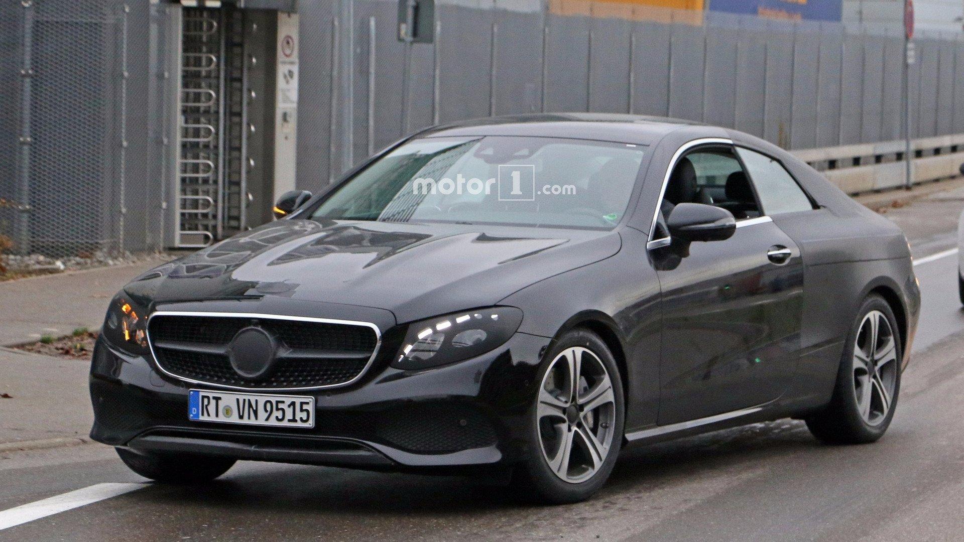 Автошпионы рассекретили новое купе 2-дверного Mercedes E-Class