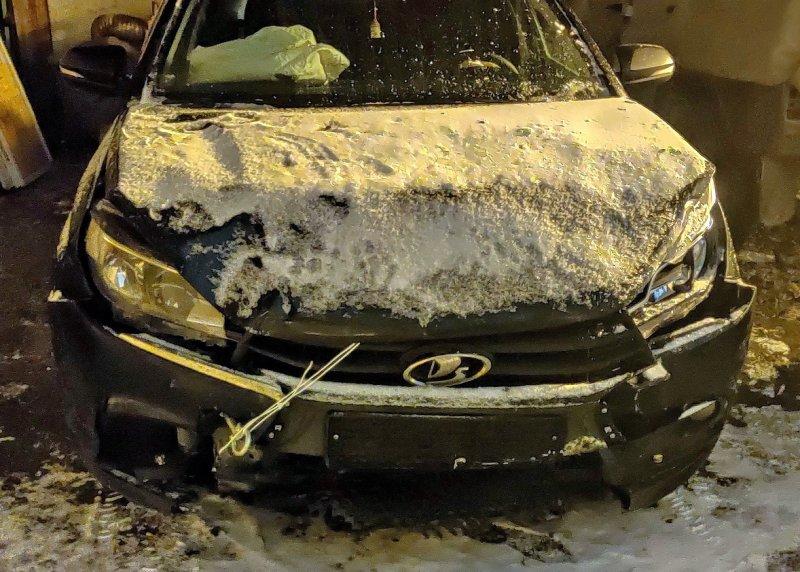 Разбитое авто. Фото: сообщество «Лада Веста— Плюсы иМинусы, ВКонтакте»